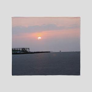 Sun rise Isle Of  Palms South Caroli Throw Blanket