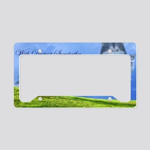 Sypathy Card License Plate Holder