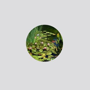 Koi Pond and Water Lilies copy Mini Button