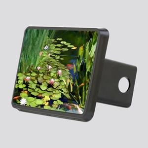 Koi Pond and Water Lilies  Rectangular Hitch Cover