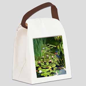 Koi Pond and Water Lilies copy Canvas Lunch Bag