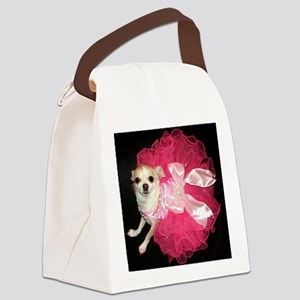 Moo in Pink Canvas Lunch Bag