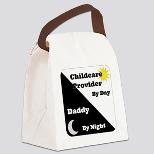 Childcare Provider by day Daddy b Canvas Lunch Bag