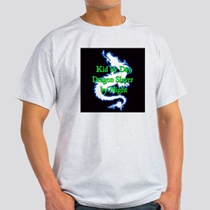 Kid by Day Dragon SlayerBlue Green - Light T-Shirt