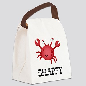 Snappy Crab Canvas Lunch Bag