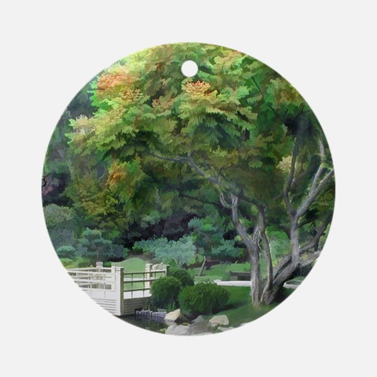 Oasis in a Sea of Green copy Round Ornament