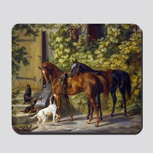 Adam Albrecht - Horses at the Porch Mousepad
