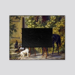 Adam Albrecht - Horses at the Porch Picture Frame