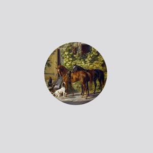 Adam Albrecht - Horses at the Porch Mini Button
