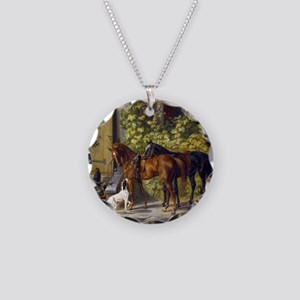 Adam Albrecht - Horses at th Necklace Circle Charm