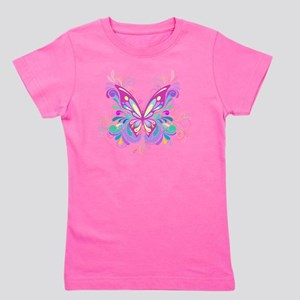 Decorative Butterfly Girl's Tee