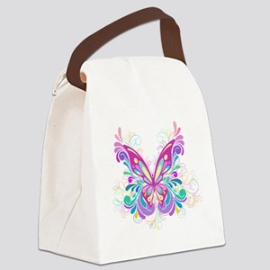 Decorative Butterfly Canvas Lunch Bag