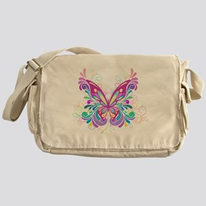 Decorative Butterfly Messenger Bag