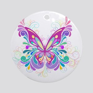 Decorative Butterfly Round Ornament
