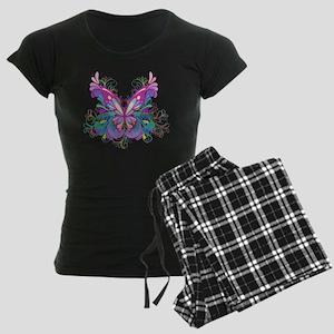 Decorative Butterfly Women's Dark Pajamas
