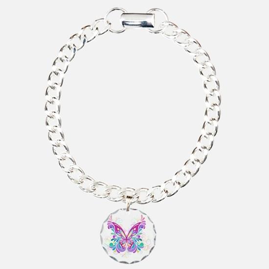 Decorative Butterfly Charm Bracelet, One Charm