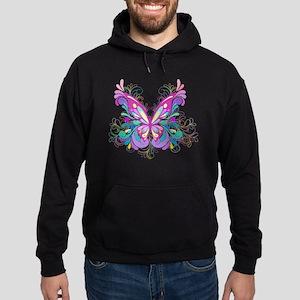 Decorative Butterfly Hoodie (dark)