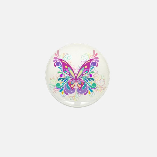 Decorative Butterfly Mini Button