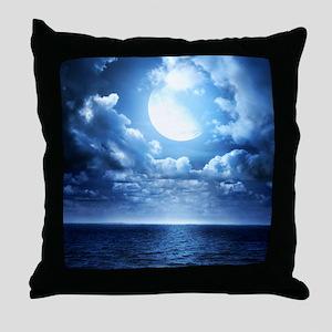 Night Ocean Throw Pillow