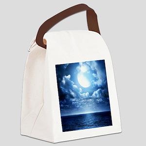 Night Ocean Canvas Lunch Bag