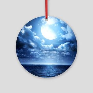 Night Ocean Round Ornament