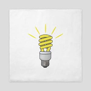 Compact Fluorescent Light Bulb Queen Duvet