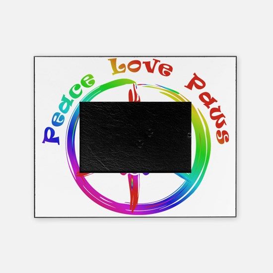 Peace, Love, Paws Picture Frame