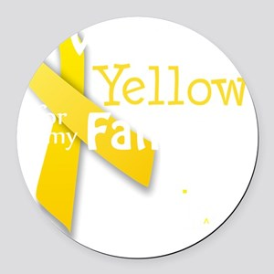 trans_i_wear_yellow_for_my_father Round Car Magnet