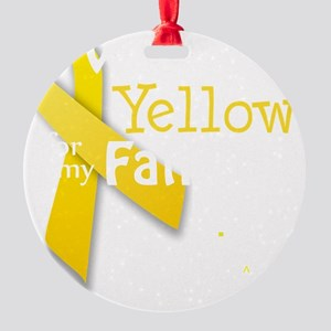 trans_i_wear_yellow_for_my_father_u Round Ornament