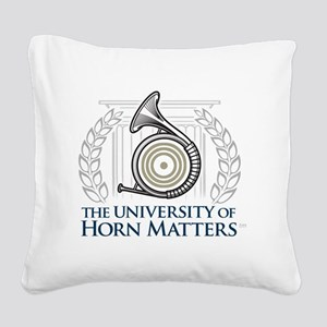 U of HM Square Canvas Pillow