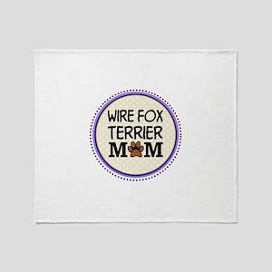 Wire Fox Terrier Dog Mom Throw Blanket