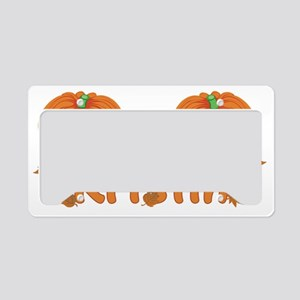Halloween Pumpkin Kristin License Plate Holder