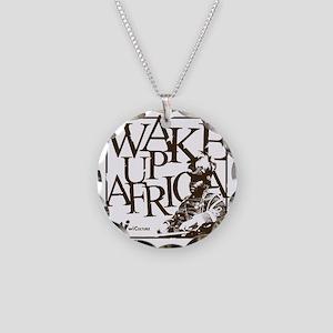 Garvey Wake Up Africa... Necklace Circle Charm