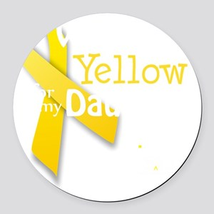 trans_i_wear_yellow_for_my_daught Round Car Magnet