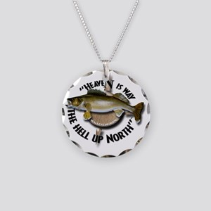 Walleye Necklace Circle Charm