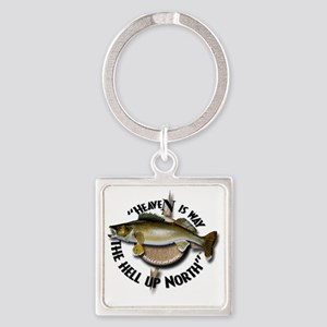 Walleye Square Keychain