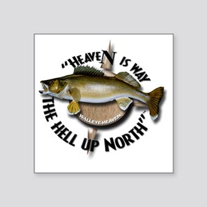 "Walleye Square Sticker 3"" x 3"""
