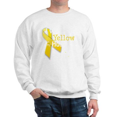 trans_i_wear_yellow_for_my_husband_upda Sweatshirt