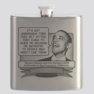 Obama Sez You Are Bitterly Clinging Flask