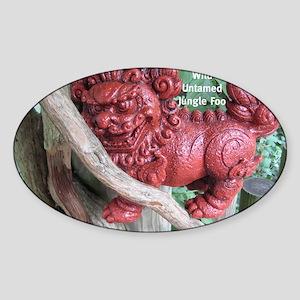 Jungle Foo Sticker (Oval)