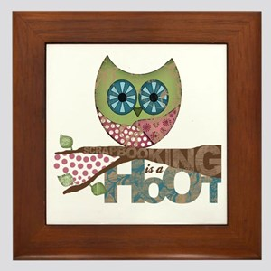 Scrapbooking is a Hoot! Featuring Owl Framed Tile