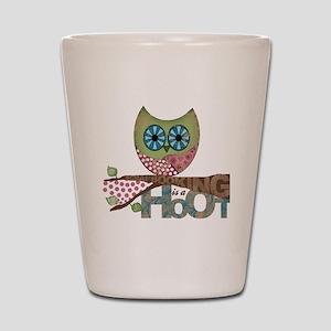 Scrapbooking is a Hoot! Featuring Owl Shot Glass