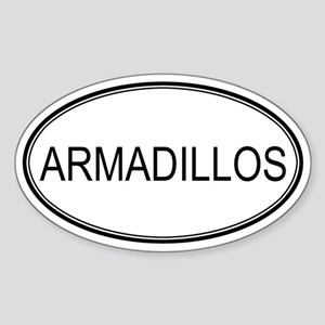 Oval Design: ARMADILLOS Oval Sticker