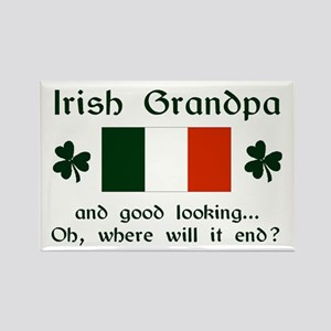 Gd Lkg Irish Grandpa Rectangle Magnet