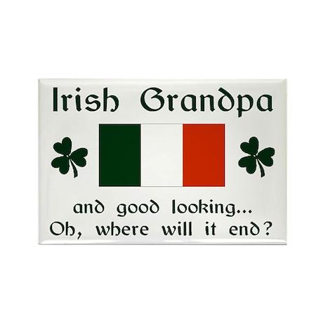 Gd Lkg Irish Grandpa Rectangle Magnet