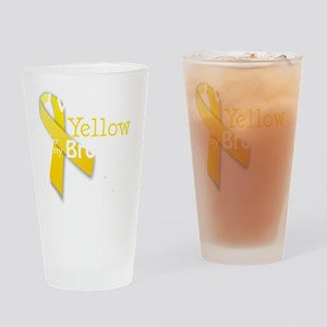 I Wear Yellow for my Brother transp Drinking Glass
