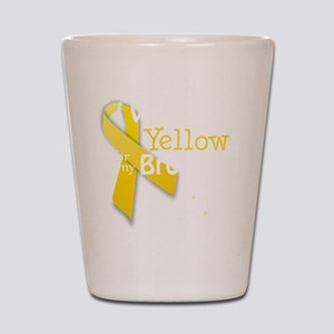 I Wear Yellow for my Brother transparen Shot Glass