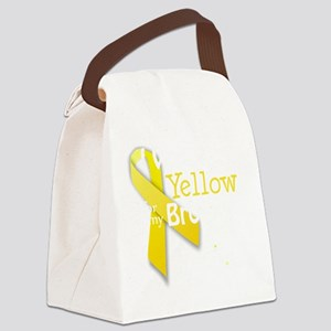 I Wear Yellow for my Brother tran Canvas Lunch Bag