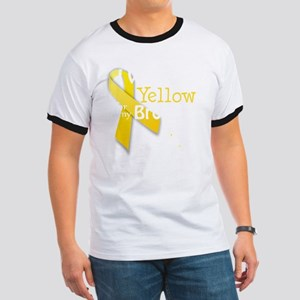 I Wear Yellow for my Brother transparent Ringer T