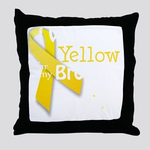 I Wear Yellow for my Brother transpar Throw Pillow